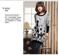 Free shopping new maternity clothing long-sleeve o-neck patchwork cartoon print sweatshirt pullover
