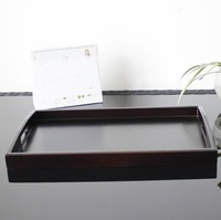 New arrival deep brown solid wood tea tray wooden pallet wool pallet plus size fruit plate