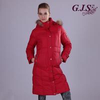 Fashion thickening female medium-long raccoon fur down coat velvet winter women's 90