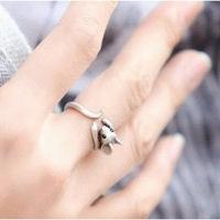 Q814 Korean jewelry cute little mouse Zodiac Women fashion rings