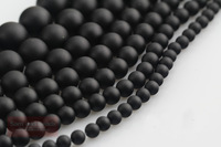 200pcs/Lot 4mm/6mm/8mm/10mm Nature Gemstone Frost Matte Black Onyx Agate Stone Loose strand Beads for Jewelry Making OAB11