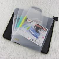 Transparent a4 slanting stripe clip file folder pumping lever clip rod clip lovers clip folder