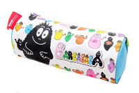 Barbapapa cartoon cylinder bag storage bag circle pencil case cosmetic bag
