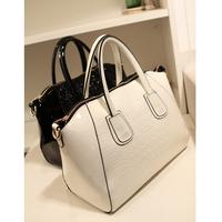 Women's handbag smiley 2014 japanned leather bag crocodile pattern women's one shoulder cross-body handbag large bag women's