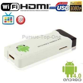 MK802 HD 1080P Mini Android 4.0 TV Multi Box Media Player 4GB ROM WIFI HDMI USB2.0 MINI OTG Slot Allwinner A10 1.0 GHz Cortex A8