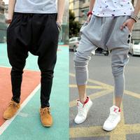 Free shipping plus size fashion male slim casual trousers big crotch men's sweatpants dance hip hop harem pants M,L,XL,XXL