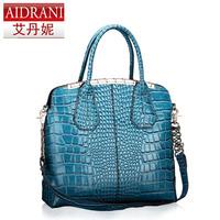 Crocodile pattern handbag women's 2013 bag cowhide women's handbag fashion handbag