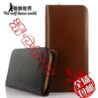 Coffee plaid clutch zipper clutch bag male wallet hot-selling