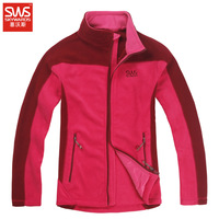 Sws women's Women outdoor clothing fleece cardigan thickening outdoor jacket liner soft shell clothing