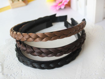 Accessories wig knitted twisted braid hair bands female hair accessory hair accessory accessories
