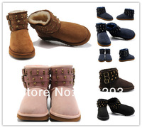 Aunthentic Australia boots 6809 the fox wool boots 100% genuine sheepskin fashion style snow boots 5 colour Size US5 - US9