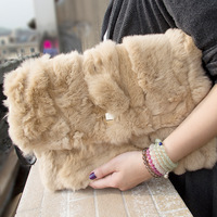 New Arrival Bags Fashion Rex Rabbit Hair Bag Fur Bag Female Messenger Bag DAY CLUTCH