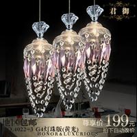Area ! modern brief crystal pendant light g4 light beads lighting 4022