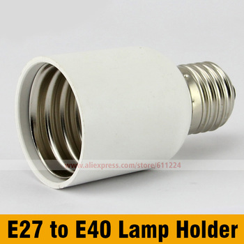 8PCS  E27 to E40 Socket Light Bulb Lamp Holder Adapter Plug Extender Lampholder Free Shipping