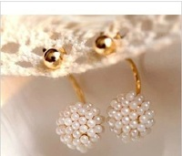 Min.order is $10 (mix order) accessories round ball pearl earrings long stud earring female A1229