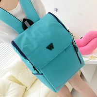 Women's handbag 2013 canvas backpack preppy style backpack middle school students school bag travel bag w