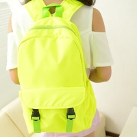 Japanese style brief solid color backpack middle school students school bag backpack preppy style