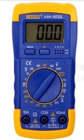 Digital multitester Volt-Ohm meter electronic measuring instrument for voltage,current and resistance LCD luminated screen