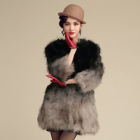 Free shipping 2013 fur raccoon fur coat medium-long 7 women's