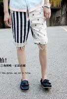 Men's clothing summer casual stripe shorts all-match pants beach pants 2013