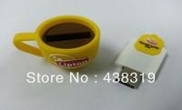 The coffee cup 4GB/8GB/16GB/32GB USB2.0 Flash Memory Stick Pen Drive High Qualtiy free shiping