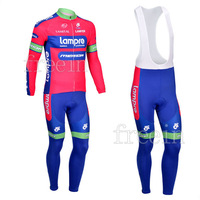 Hot Sale! /2013 Lampre1 Long Sleeve Cycling Jerseys+bib pants (or pants)/Cycling Suit /Cycling Wear/Free Shipping-L13L101
