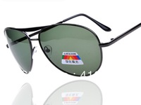 wholesale Classic 3 pieces atrovirens Polarized UV400 Lens Fashion MEN Sunglasses Metal Frame aviator Driving glasses 8059