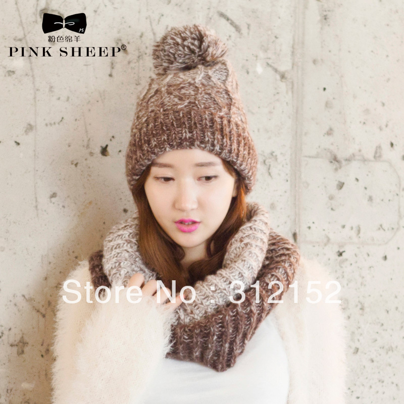 Man and Women's Winter Knitted Hats and Mufflers Ttwinset Lovers Designed(China (Mainland))