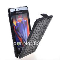 Novel unique High quality Crocodile holster leather case for Sony Ericsson X12 LT15I LT18I mobile phone case