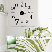 DIY Wall Clock 3D Sticker Modern Design Art Time Watches Novelty Hours Gift Removable Frameless Living Room 10E025