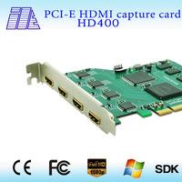 professional PCI-E 4CH HDMI capture card switch capture hdmi  HD400