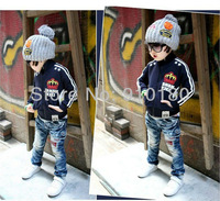 4pcs/lot  new fashion autumn children outerwear children's clothing/ boys zipper jacket /children fashion crown outwear clothes