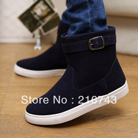 new arrival trend boots cotton-padded shoes men's winter fur leather boots men winter warm snow boots ankle boots free shipping