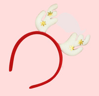 Big discount  Free Shipping Christmas decoration double head buckle Christmas ornment supplies headband for kids
