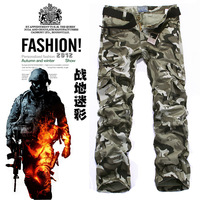 2013 men's clothing fashion male Camouflage multi-pocket pants casual overalls k8-f68