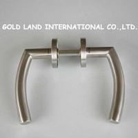 L135mm Free shipping 2pcs/pair 304 stainless steel wooden door handle lever door handle