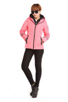 Yalu gold velvet female with a hood short down coat j-1236 design