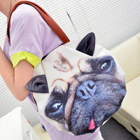 2013 women's handbag kit cat vs dog female one shoulder cross-body women's handbag female