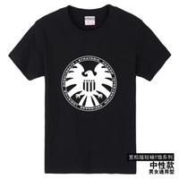 2014 / new Agents of S.H.I.E.L.D. big logo men's clothing T shirt men plus size casual shirt tops women tee