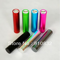 Cylinder Column 2600mAh Charger Portable USB Power Bank External Battery Pack for Mobile phone mp4, UPS Shipping 200pcs/lot, HOT