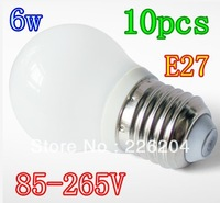 10pcs lot led bubble ball bulb E27 Led Globe Lamp 6W  Led Light 85-265V Bubble Ball Bulbs