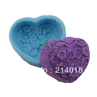 plum flower yarn modelling 3D soap mold Cake decoration mold Cake mold manual Handmade soap mold candle NO.:SO-010
