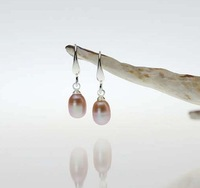 3 color Genuine Pearl Earrings Fresh Water 2013 Drop Silver Bridal Earrings Fashion Jewelry for Women