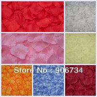 Wholesale 7000pc/Set  7 Colors  Beautiful Wedding Petals Flower Red Rose Silk Party Decoration Gift Favors