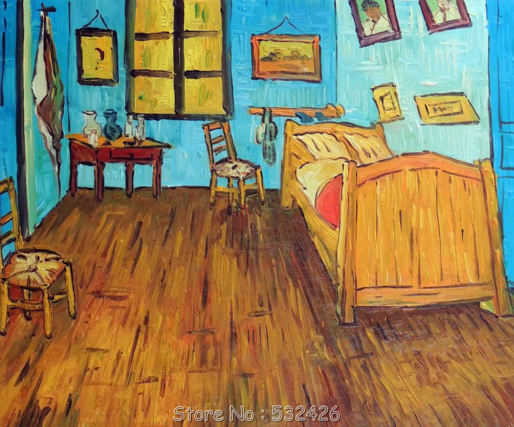 Van Gogh Bedroom Bed In France Reproduction Impressionist Handpainted Oil Pai