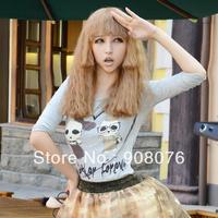 Best selling! 2013 queen medium-long fluffy bangs scroll hair wig cute-type faultage corn curls hair Free shipping