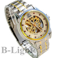 BMM418 Between gold grade business hollow watches Men's watches High quality Precision steel watches
