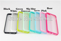 New Ultra Thin Transparent Clear Soft Rubber silicon TPU Case Back Cover For iPhone 4 4G 4S.free shipping