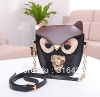HOT sale Fashion owl design good quality PU women shoulder bag/leather bag