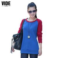 Free shipping autumn -summer women's fashion sport outwear loose long-sleeve basic shirt pullover  high-quality sweatshirt